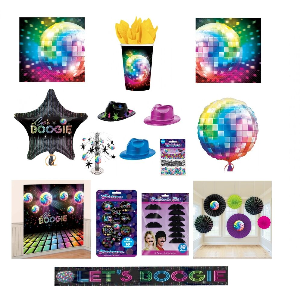 Disco Ball Party Decorations: I LOVE THE 70s Disco Fever Themed PARTY Range Glitter Ball