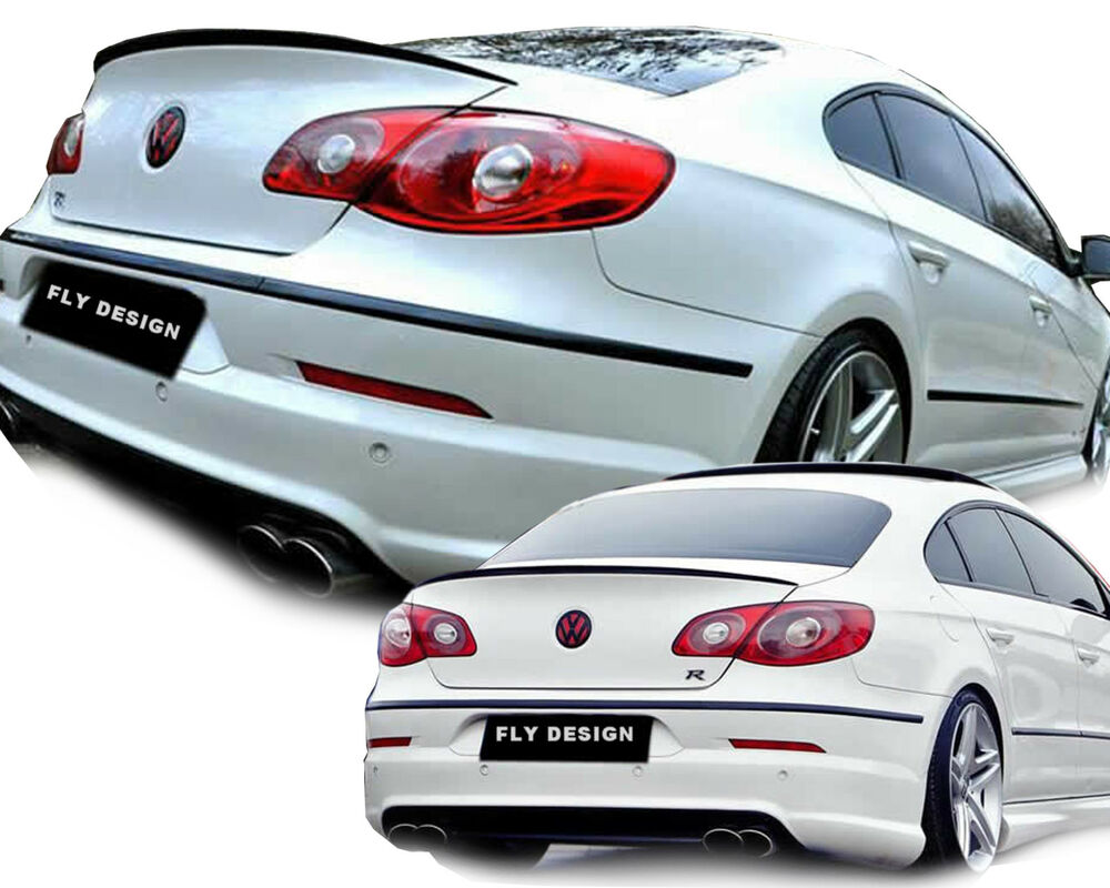 vw passat cc tuning trunk lip spoiler rear tail lid black. Black Bedroom Furniture Sets. Home Design Ideas