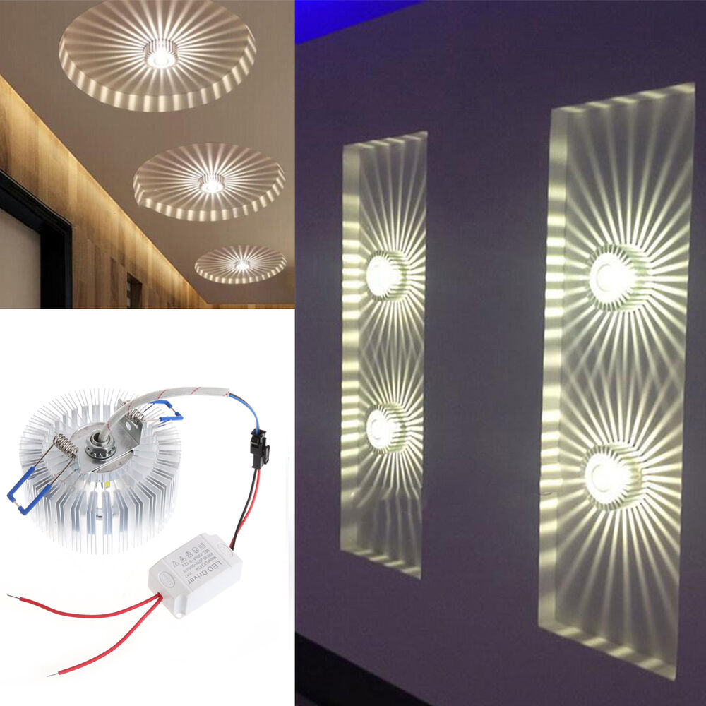 3W LED Aluminum Ceiling Light Fixture Pendant Lighting