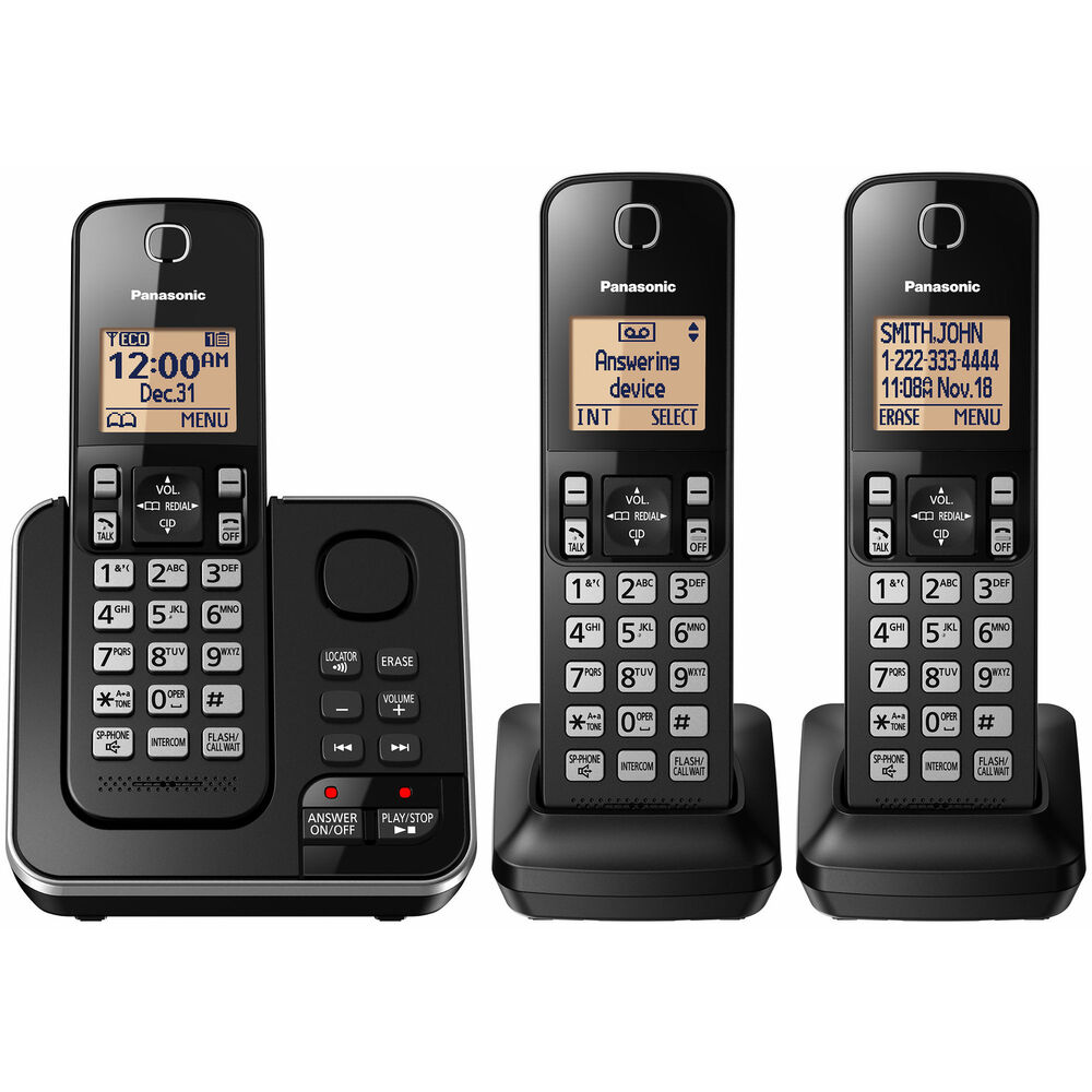 panasonic kx-tg433sk dect 6.0 phone 3-handset reviews