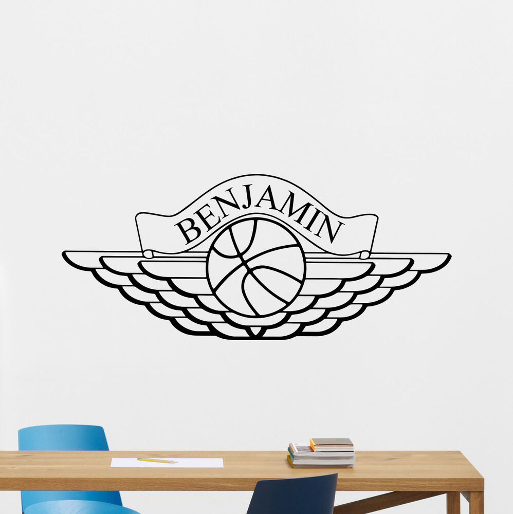 Personalized Air Jordan Wall Decal Basketball Vinyl ...