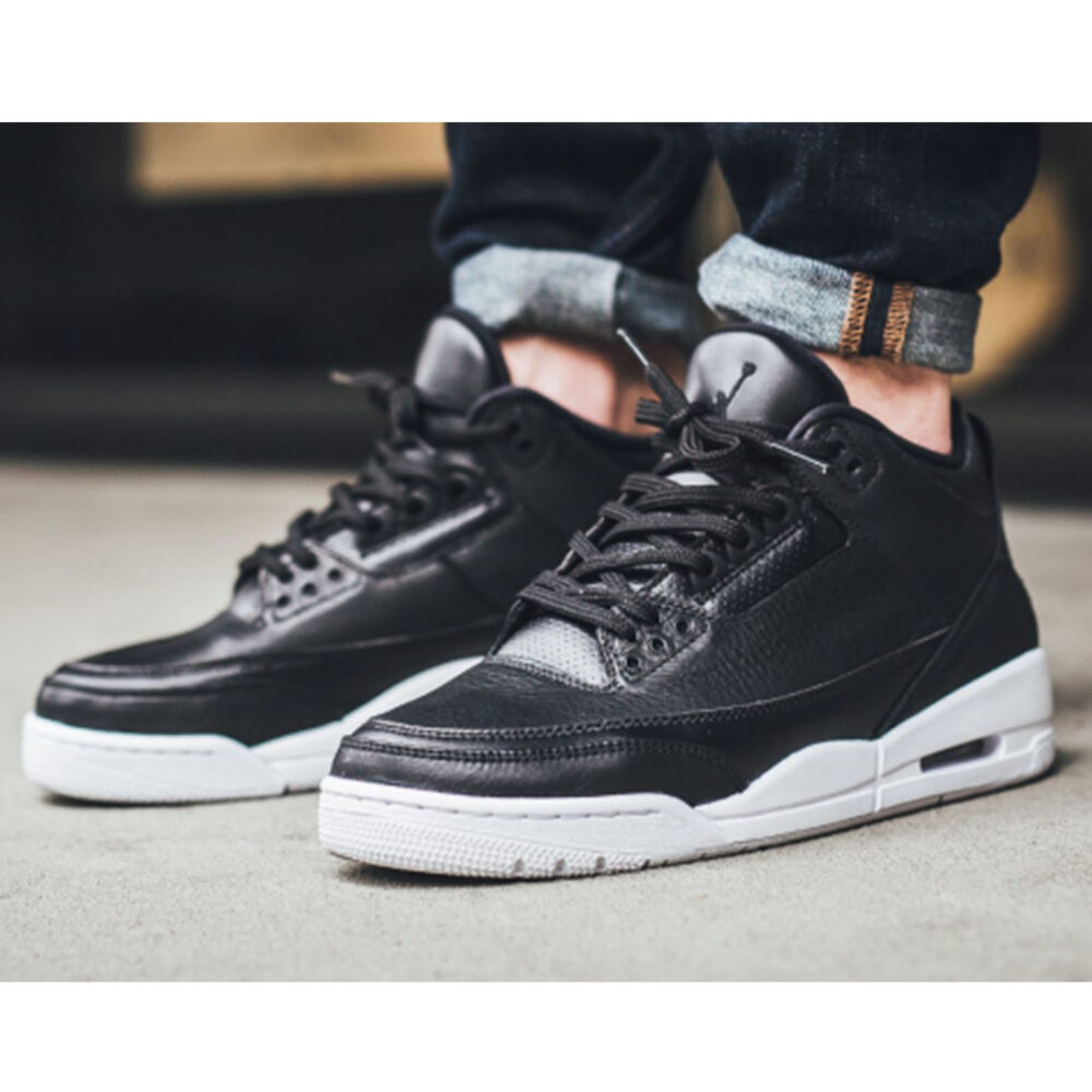 nike air jordan 3 retro iii cyber monday black white mens. Black Bedroom Furniture Sets. Home Design Ideas