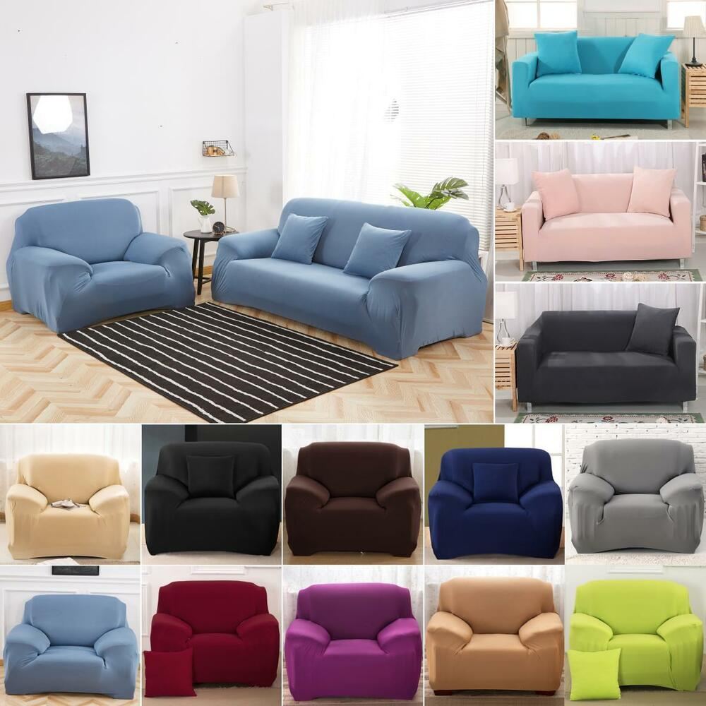 1/2/3 Seater Sofa Slipcover Stretch Protector Soft Couch