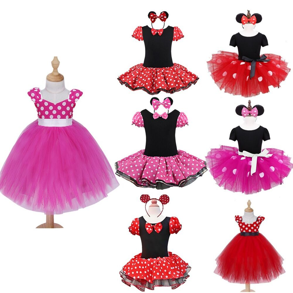 Birthday Party Outfit: NEW 2PCS Baby Girl Minnie Mouse Romper Tutu Dress Birthday