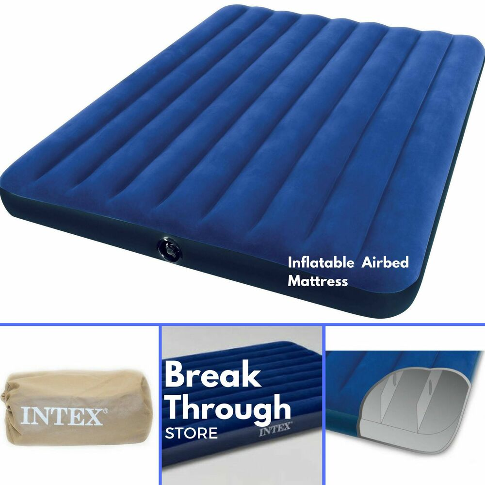 Inflatable Airbed Air Mattress Queen Size Portable Blow Up