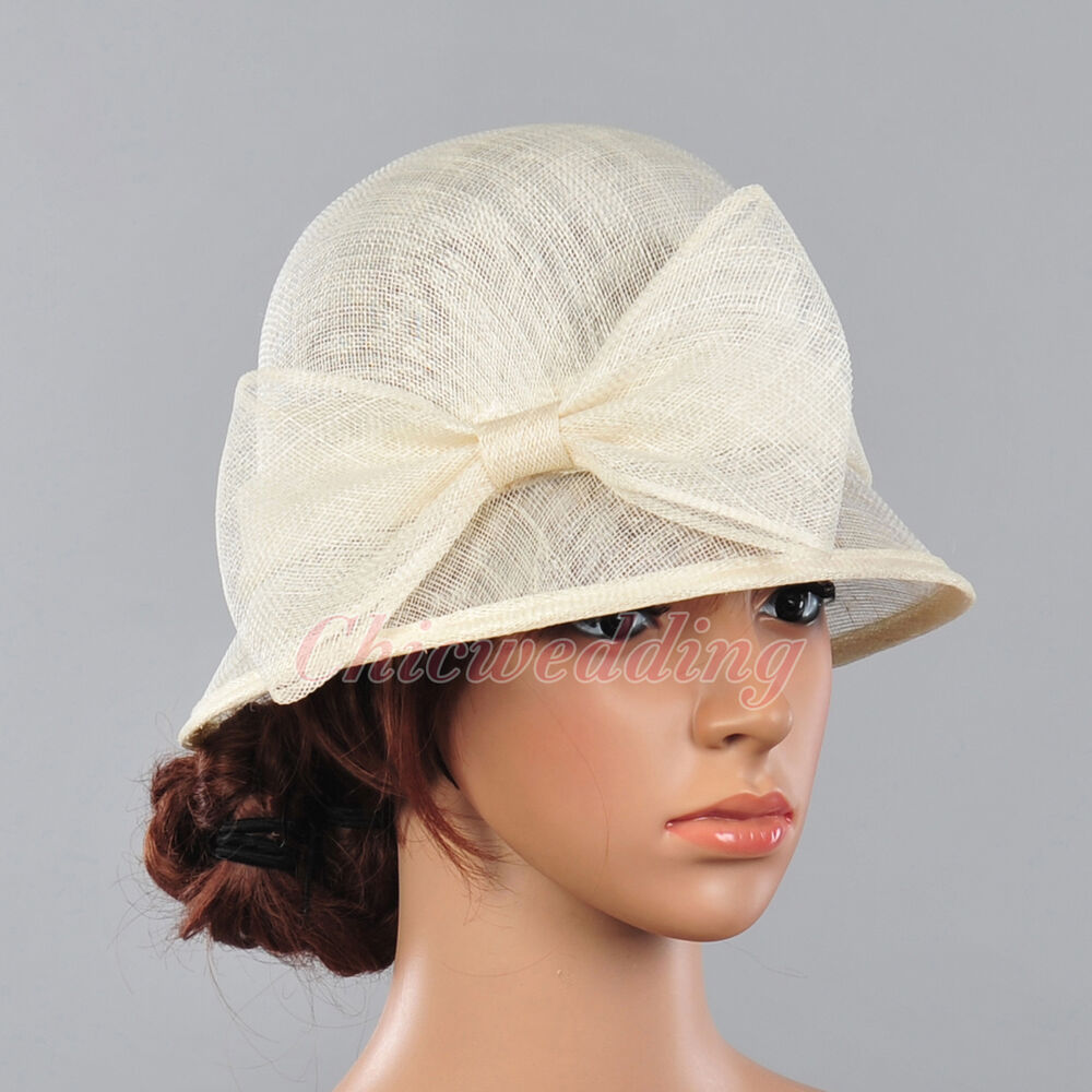 Women church hat kentucky derby wedding cocktail tea party for Dress hats for weddings