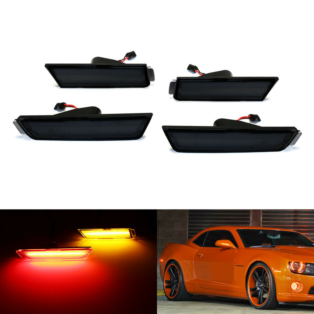 Smoked Lens Front Amber Rear Red Led Side Marker Lights
