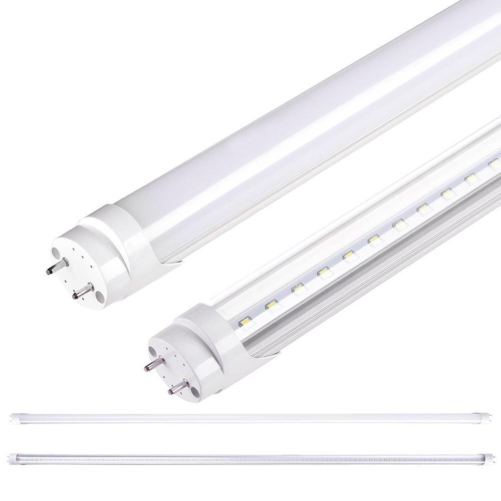 1 10 25 pack 18w 4ft white t8 led tube light bulb fluorescent replacement lamp ebay. Black Bedroom Furniture Sets. Home Design Ideas