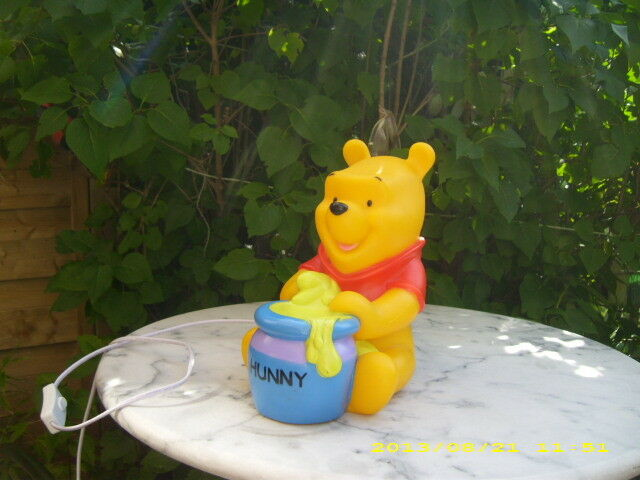 winnie pooh puuh lampe figur leuchte kinderlampe walt disney ebay. Black Bedroom Furniture Sets. Home Design Ideas
