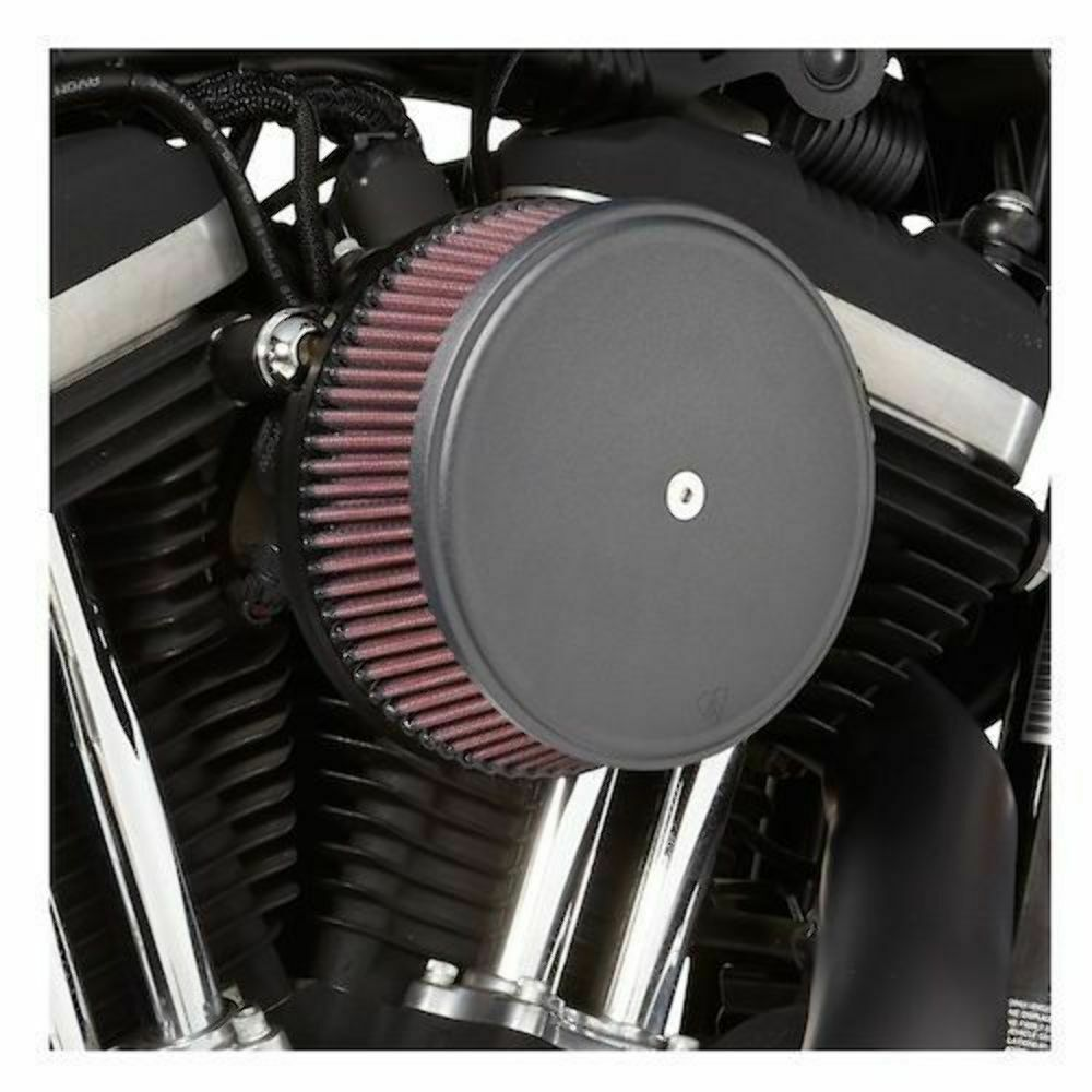Evo Air Cleaner : Arlen ness stage air filter black cover big sucker kit