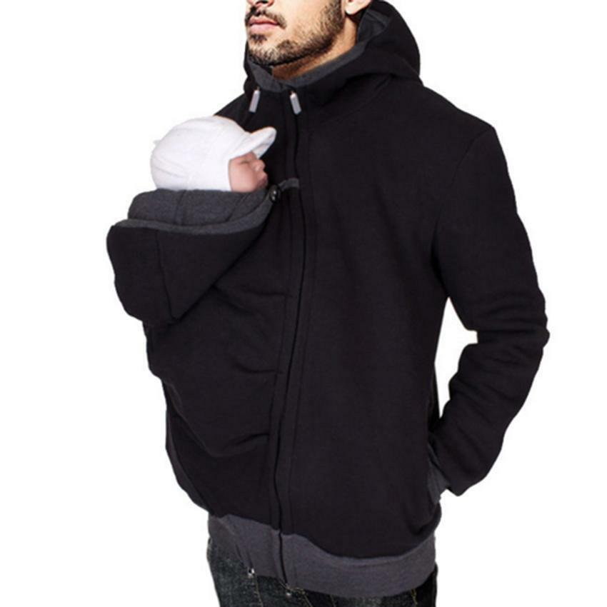 Autumn Winter Thick kangaroo Men's Dad and Baby Carrier ...