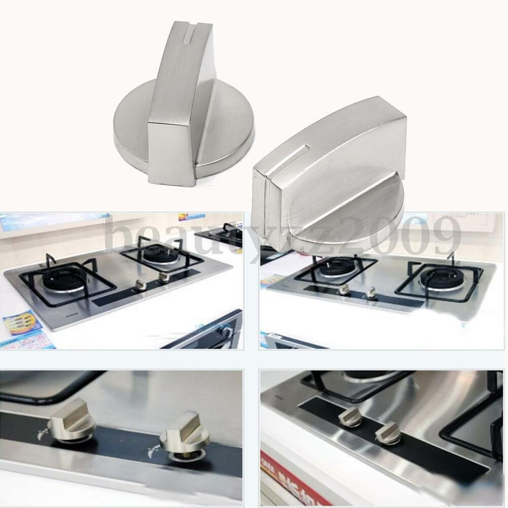 4pcs Silver Universal Gas Stove Knobs Cooker Oven Hob