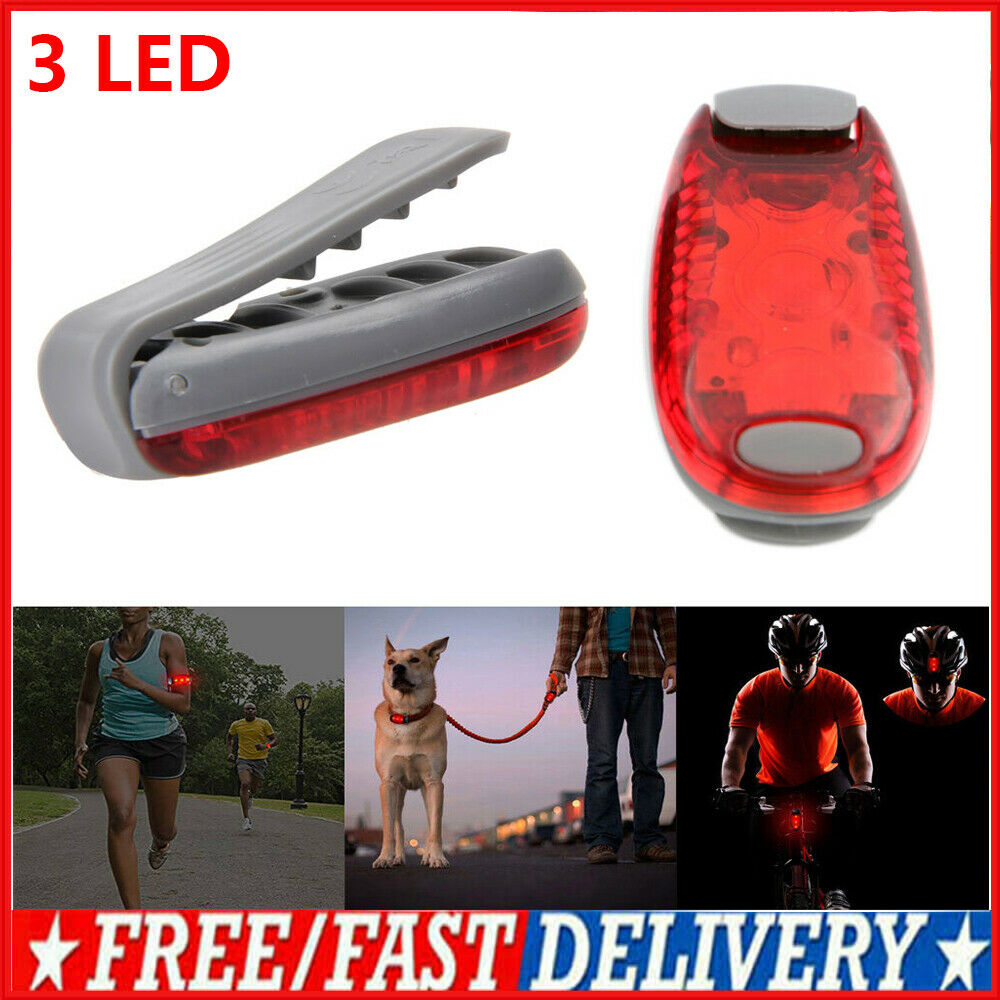 3 LED Light Clip on for Running Bike Rear Lamp Cycling ...