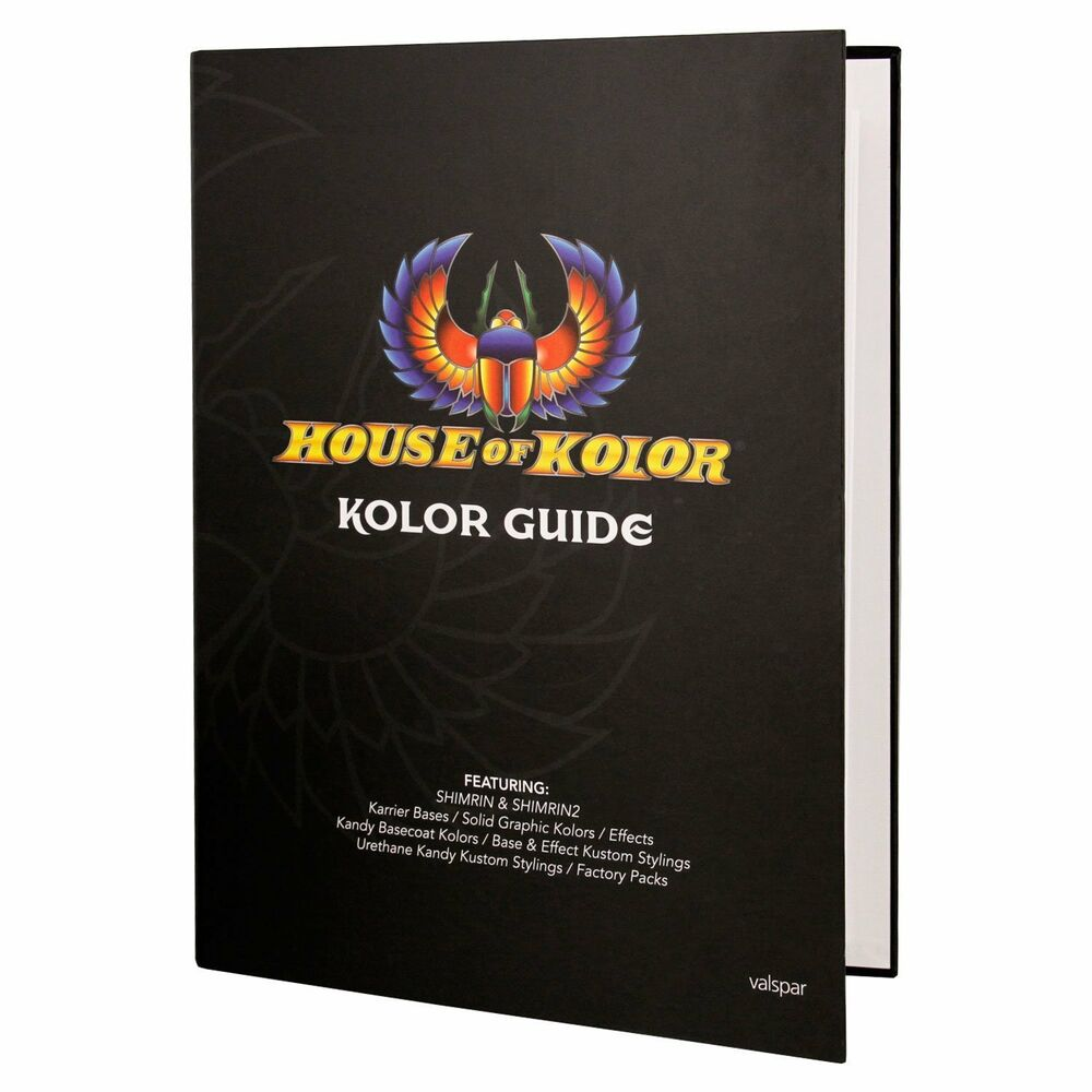 House Of Kolor Paint Chart >> House of Kolor Kolor Guide Hardcover Book featuring Shimrin and Shimrin2 | eBay