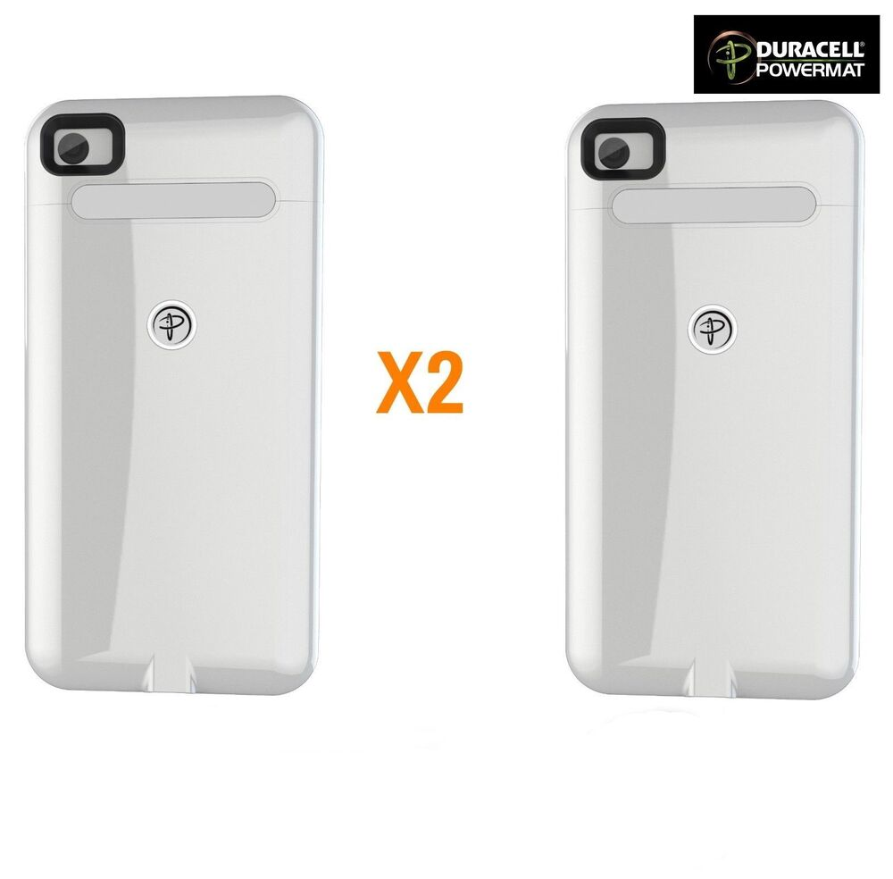 iphone only charges when off new 2x white duracell powermat wireless charging cases for 17683