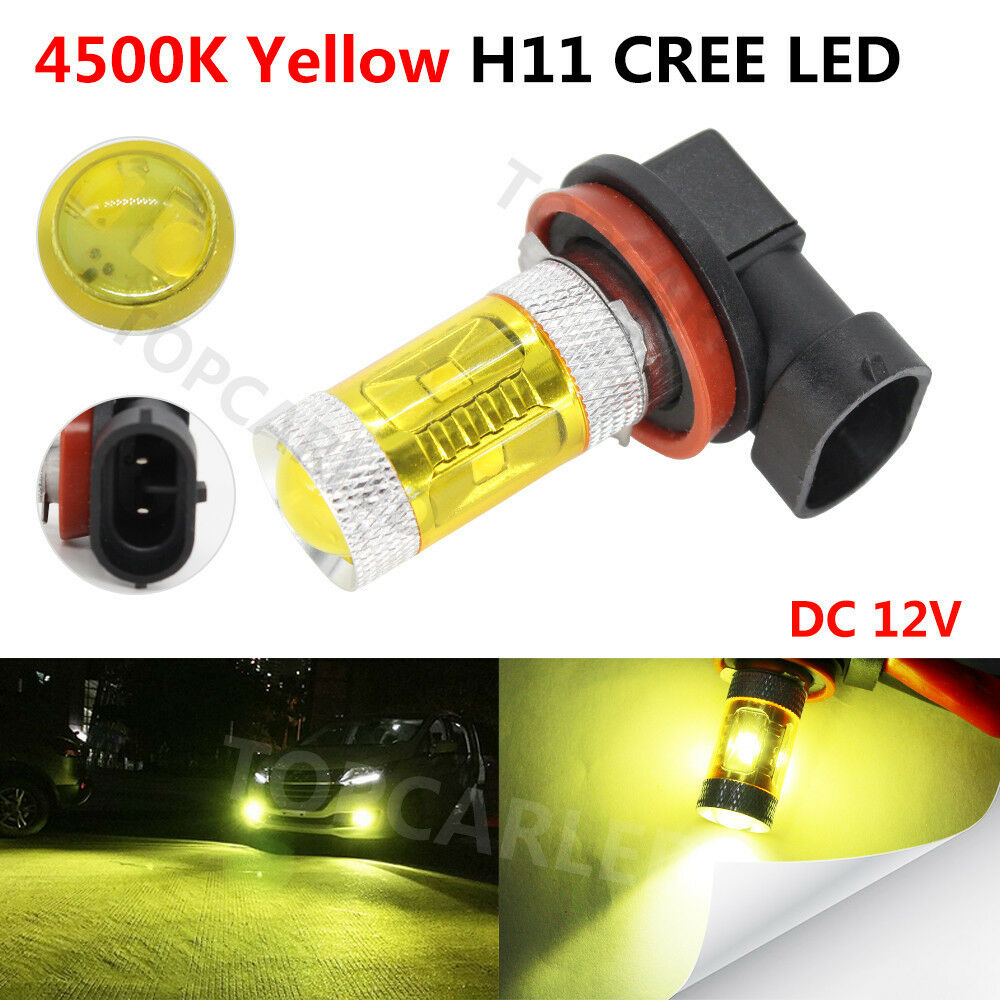 Gold Yellow 4300k Cree H8 H11 Led Replacement Bulb For Fog