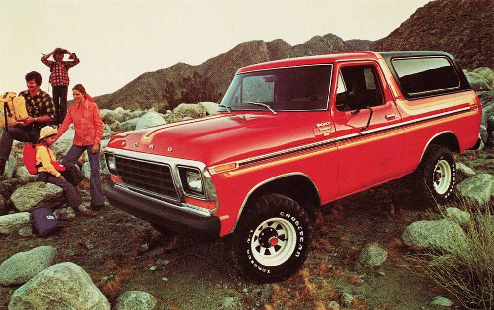 old print red 1978 ford bronco ranger xlt advertisement. Black Bedroom Furniture Sets. Home Design Ideas
