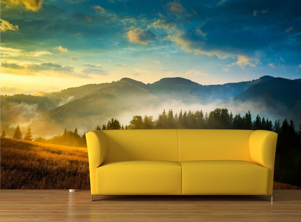 Amazing mountain landscape 3d mural photo wallpaper decor for Amazing wallpaper for tab