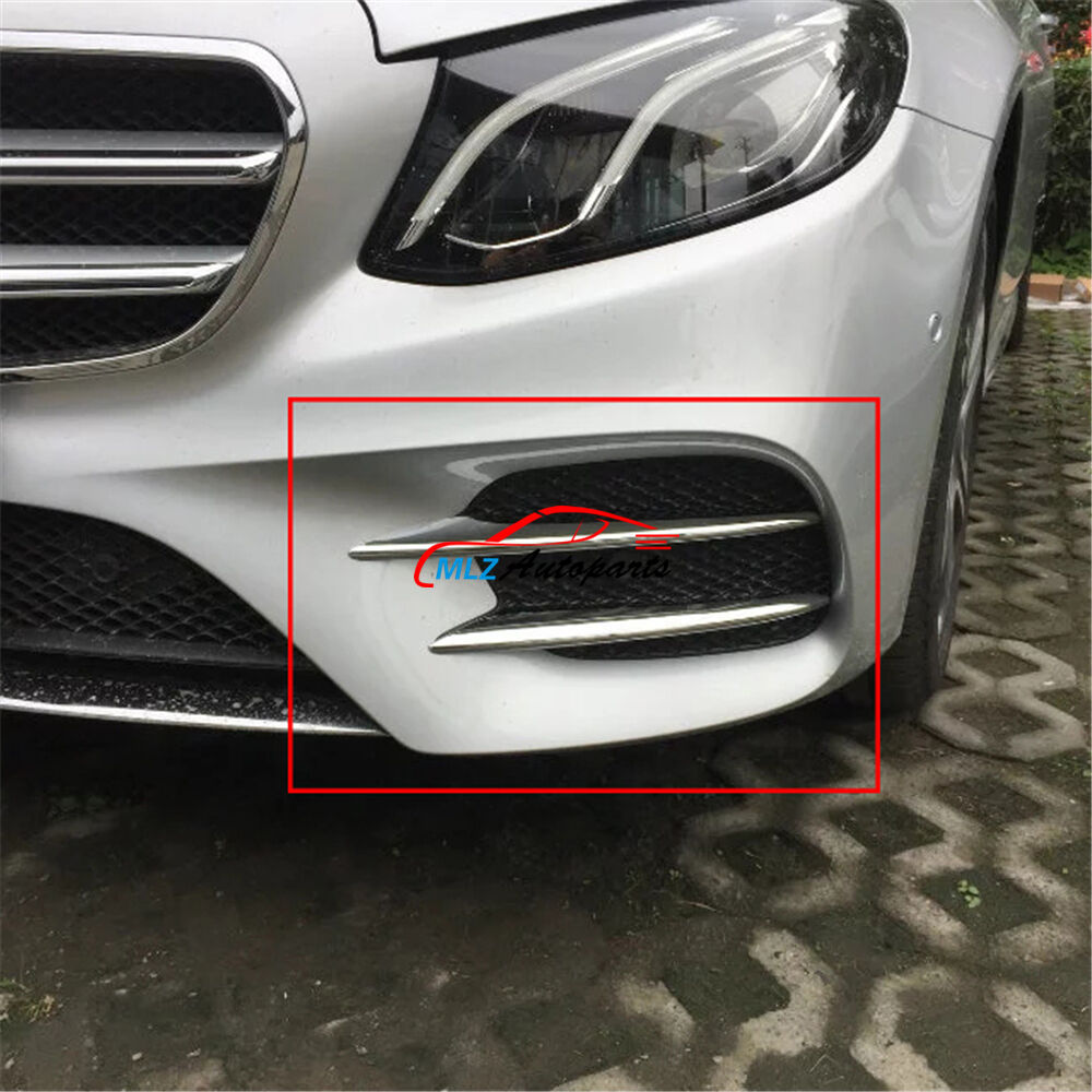 Abs Front Fog Light Lamp Cover Trim 4p For Mercedes Benz E