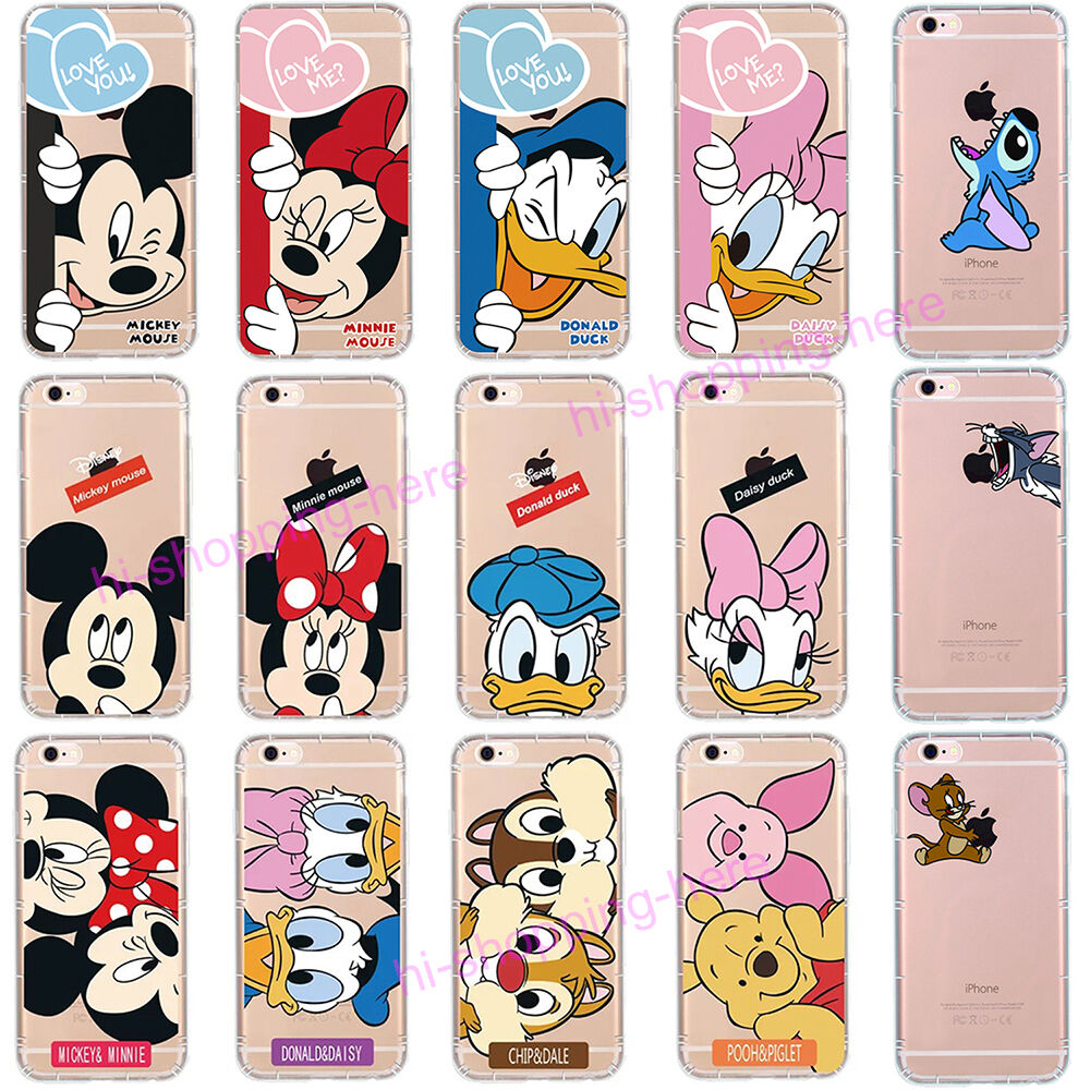 Soft Silicone Rubber TPU Cartoon Disney Clear Case Cover ...