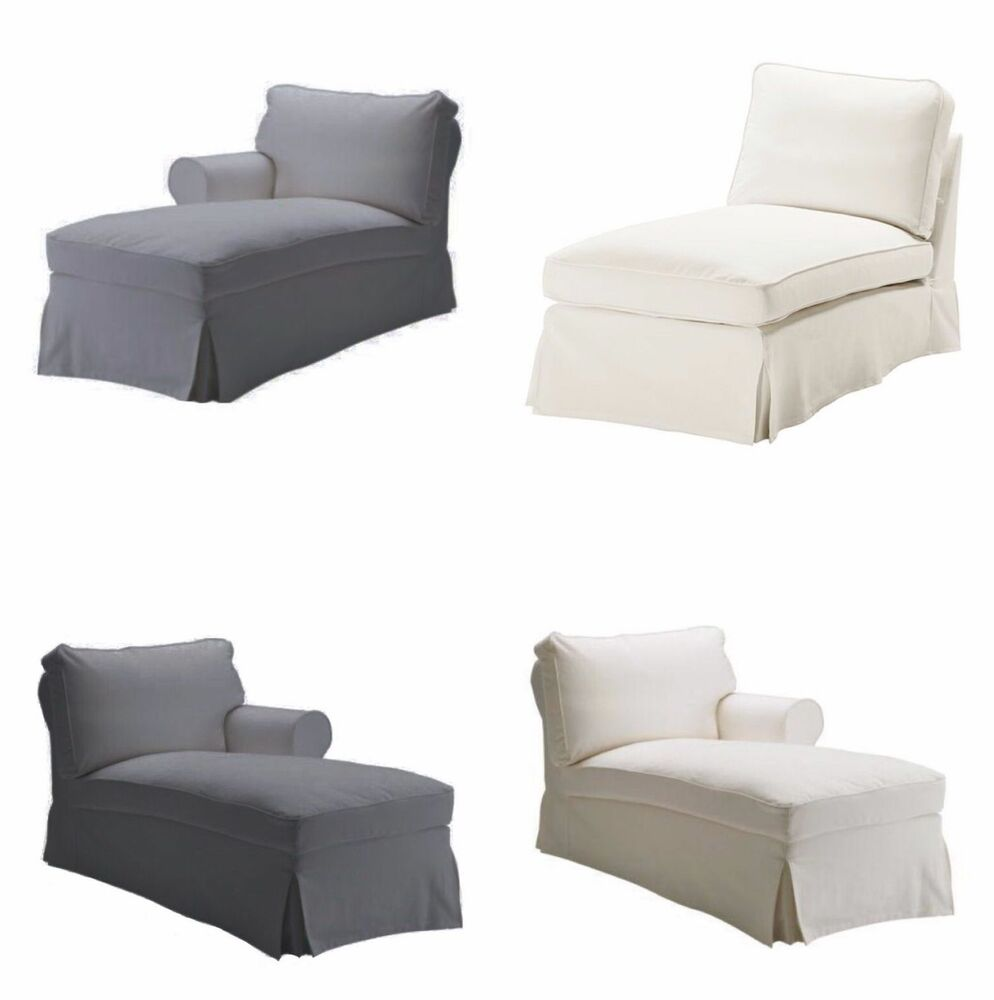 Replace sofa cover fits ikea ektorp chaise lounge left right or no armrest ebay - Ikea chaise lounge cover ...