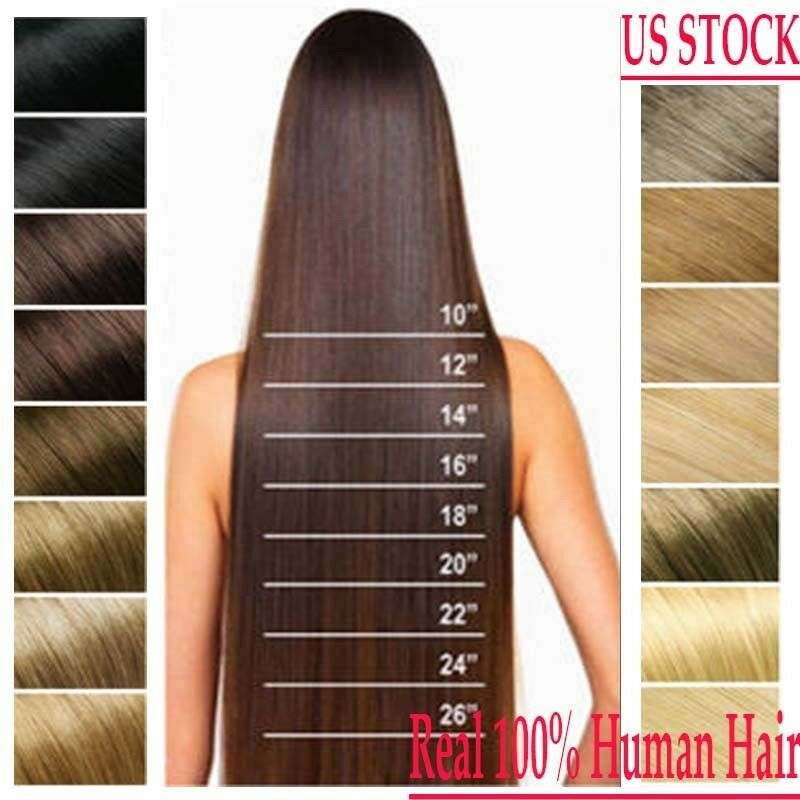 Us Full Head Clip In 100 Remy Human Hair Extensions 15 26 Inch