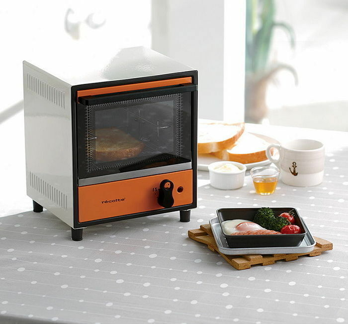 recolte electric solo mini oven toaster japanese appliance in white orange 220v ebay. Black Bedroom Furniture Sets. Home Design Ideas