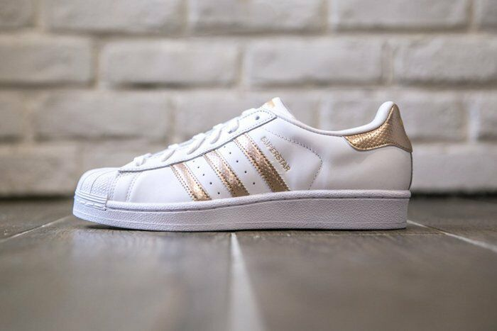 womens adidas superstar rose gold copper white black shell. Black Bedroom Furniture Sets. Home Design Ideas