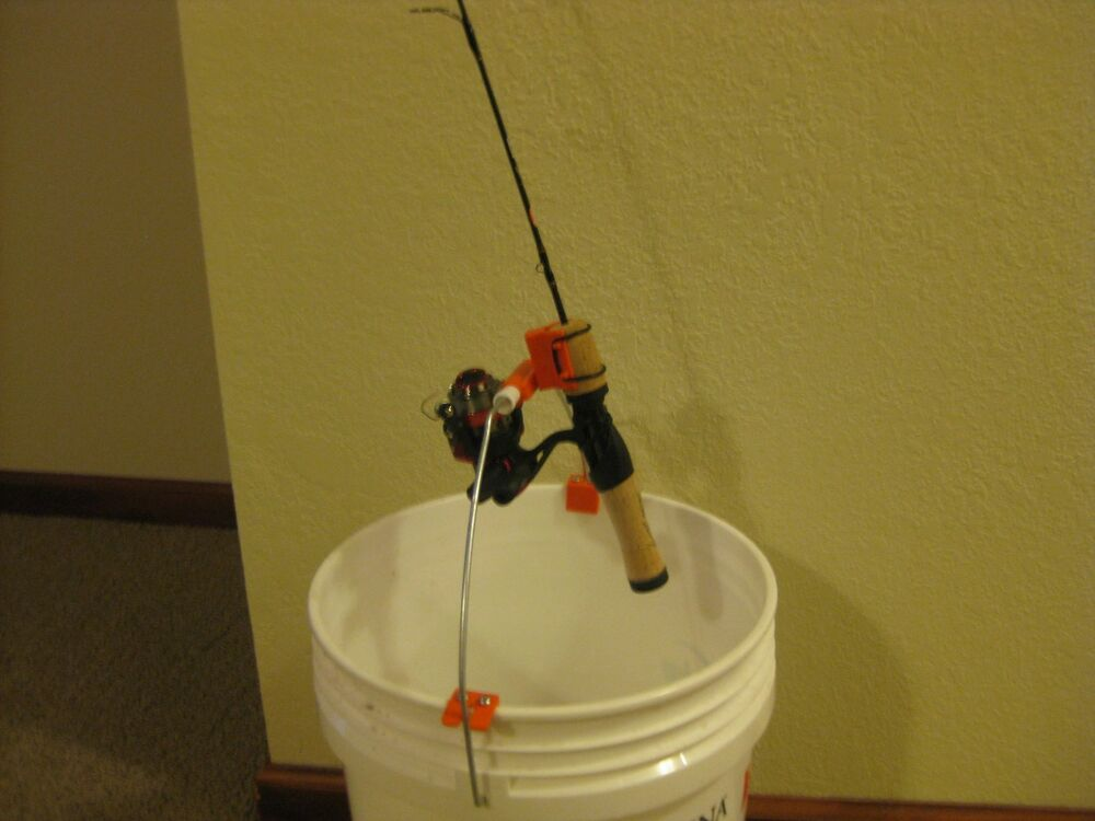 Ice fishing tip down tip up bucket rod holder ebay for Ice fishing bucket