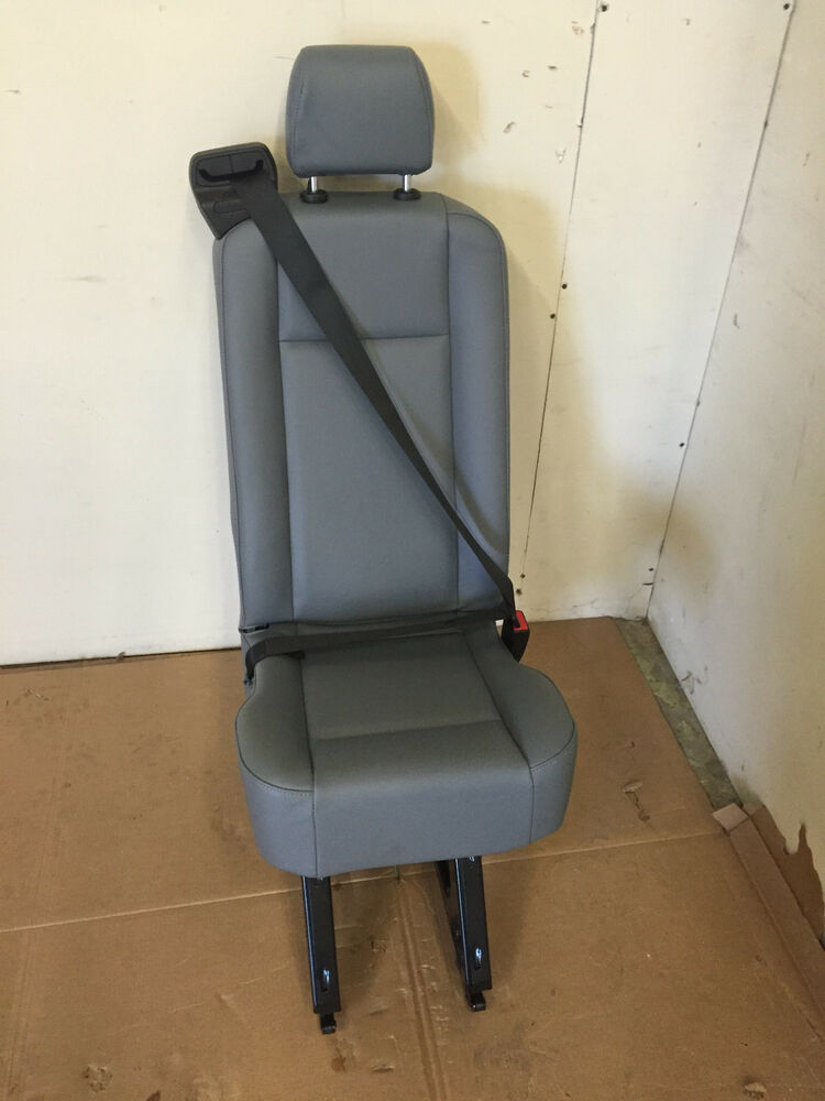 Replacement Van Seats : Ford transit van person rear seat gray vinyl with