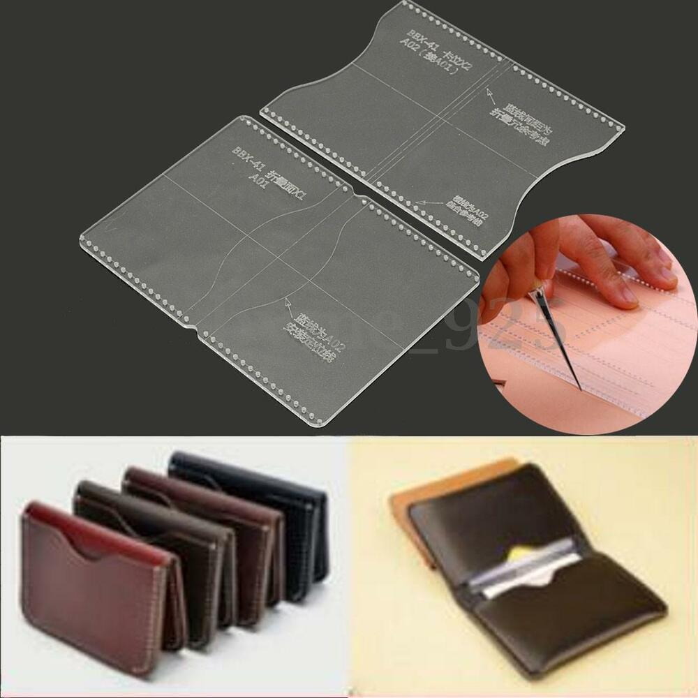 Clear Acrylic DIY Moldeling Template Set Leather Wallet ...