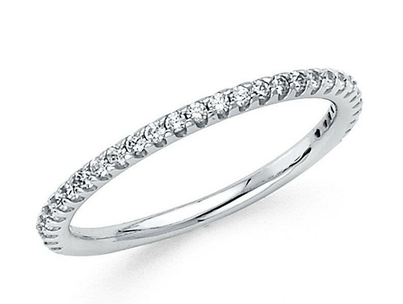 14k Solid White Gold Wedding Band Thin 2mm Classic Ring