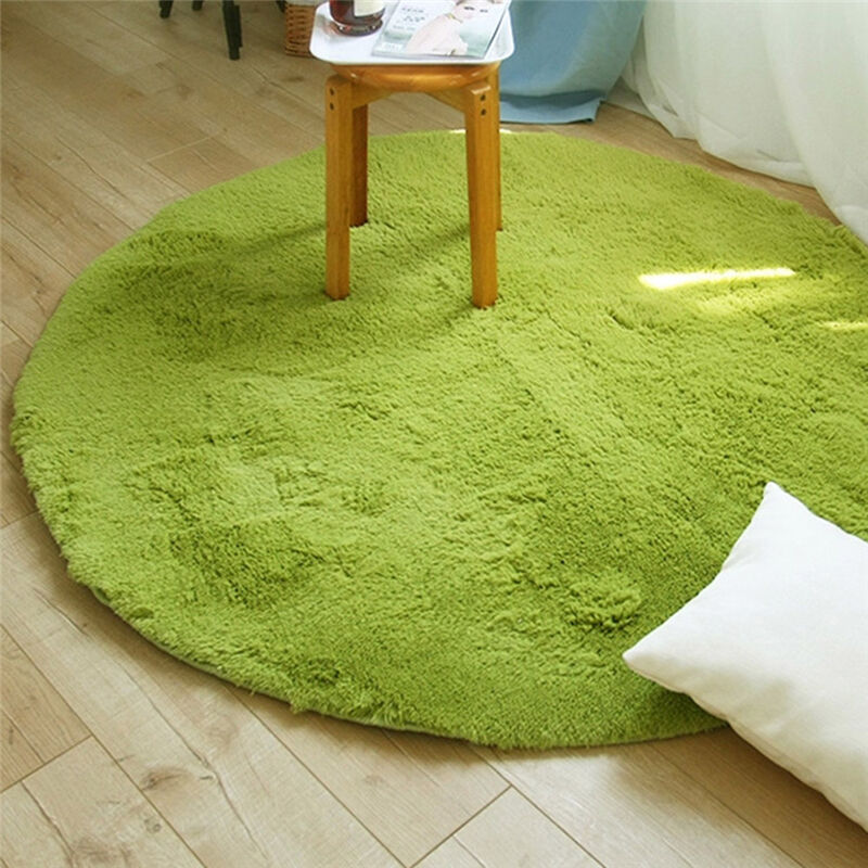 New small bedroom circle rug large round circular living for Living room mats