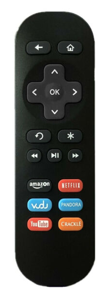 New Roku Streaming Player Replacement Remote 01 for Roku 1/2/3/4 LT HD XD XS
