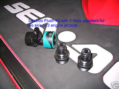 seadoo 4 tec engine seadoo flush kit quick connect 2 male adapters pwc jet ski boat engine 4tec 1494