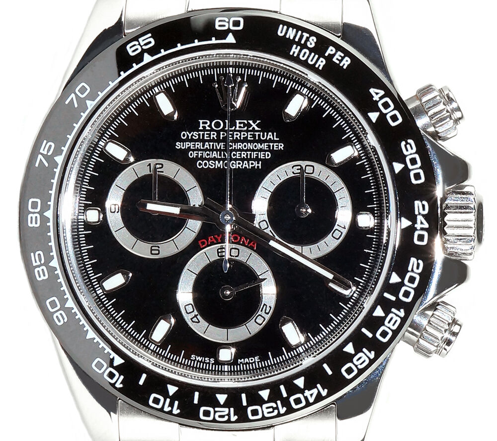 rolex daytona stainless steel 116520 with custom ceramic. Black Bedroom Furniture Sets. Home Design Ideas