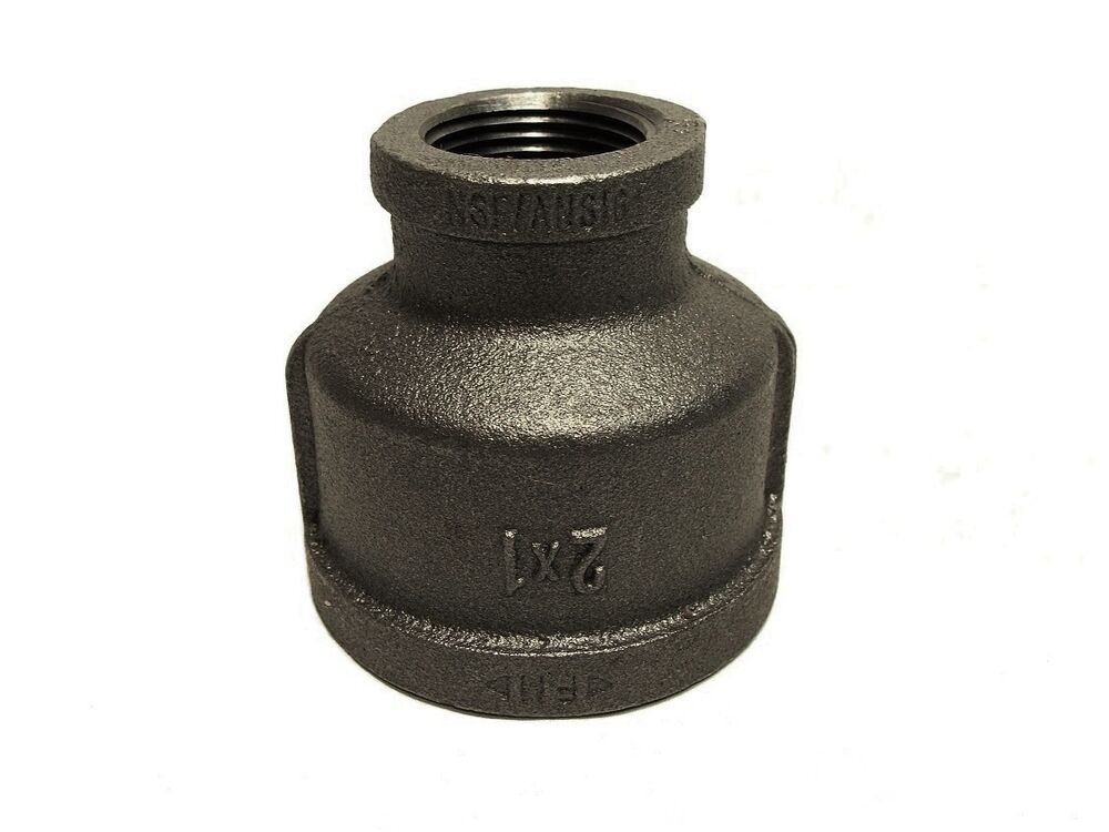 2 Quot X 1 Quot Inch Black Malleable Iron Pipe Threaded Reducer
