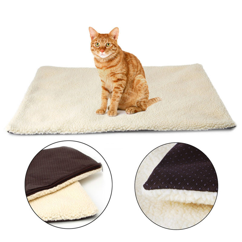Dog Beds That Look Like Rugs: Pet Warm Fleece Cushion Bed Super Soft Self Heating Cat