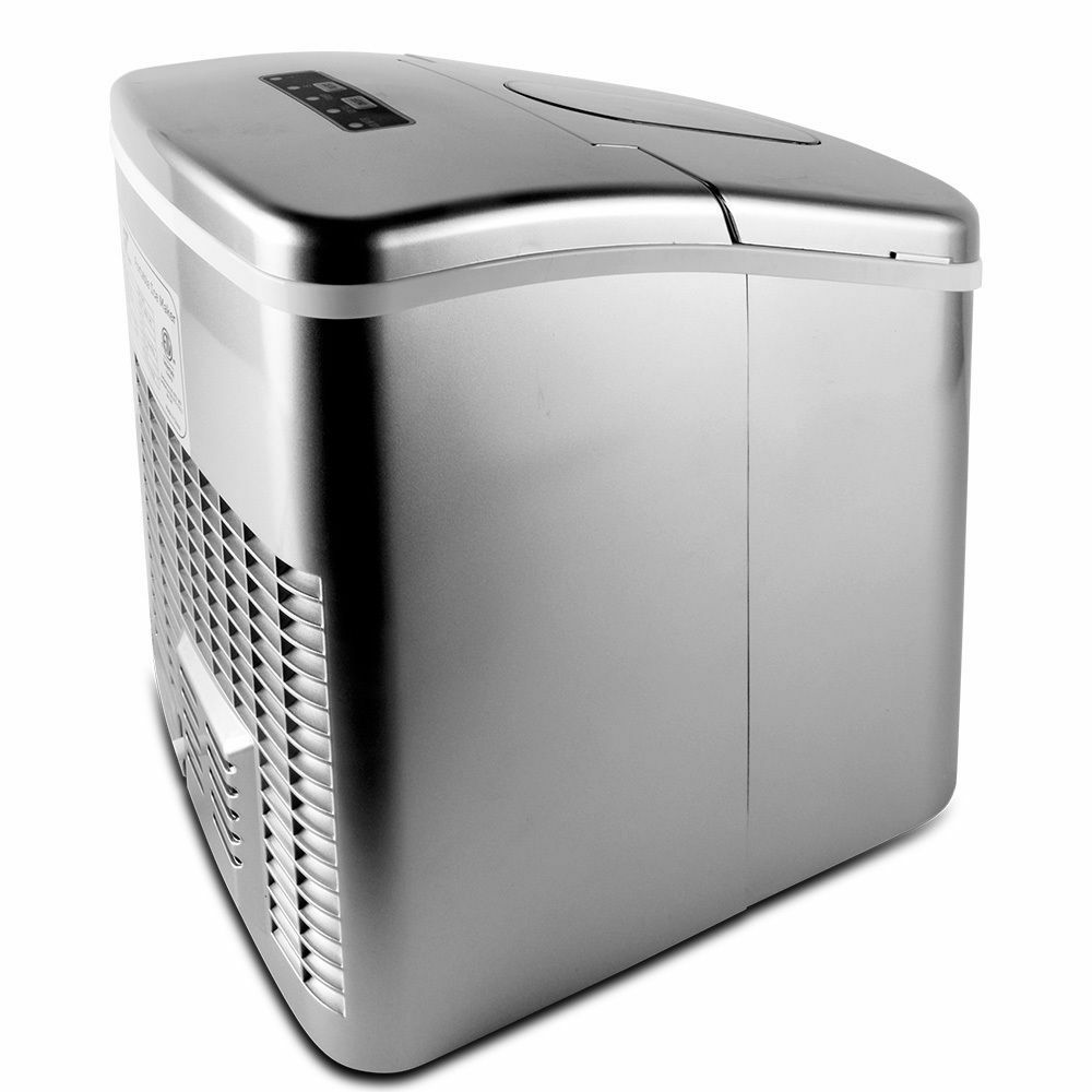 Stainless Steel Portable Top Countertop Compact Ice Maker