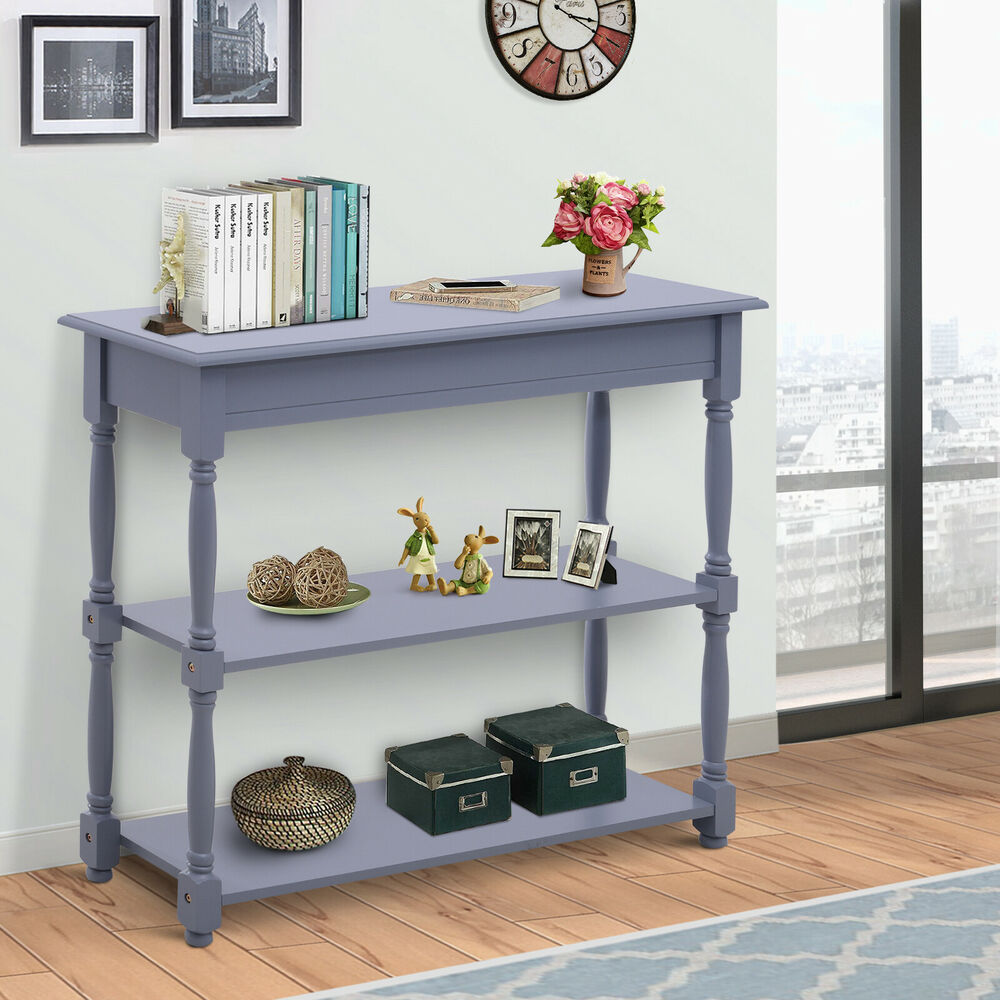 homcom console table wood entryway sofa accent hallway living room furniture ebay. Black Bedroom Furniture Sets. Home Design Ideas