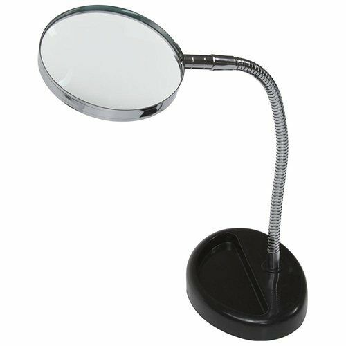 Magnifying Glass 5x Desk Top Table Flexable Neck Magnifier