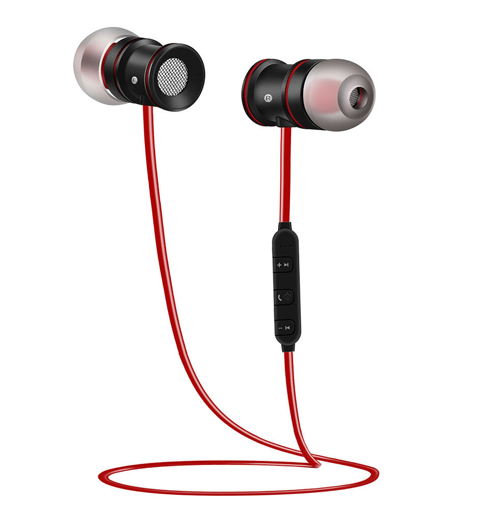 soft bluetooth wireless sports stereo music headphone earbuds for iphone 7 lg g4 ebay. Black Bedroom Furniture Sets. Home Design Ideas