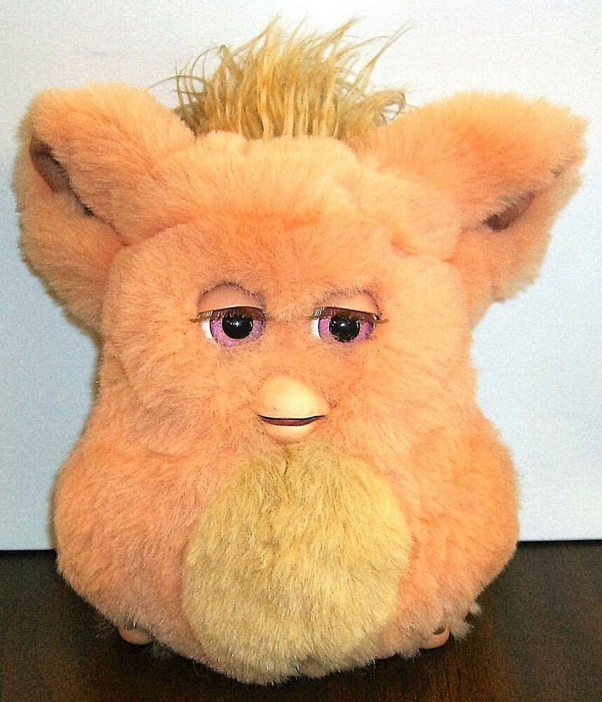 2005 Emototronic Furby Doll Figure Orange Pink Eyes