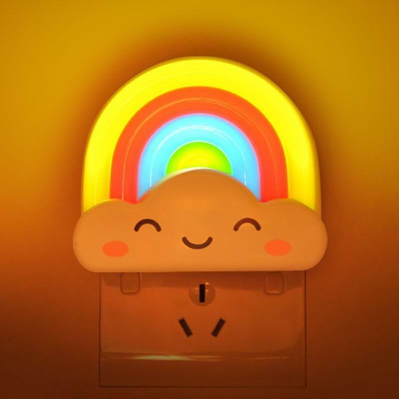 Wall Lights For Kids: Rainbow LED Night Light Lamp For Baby Kids