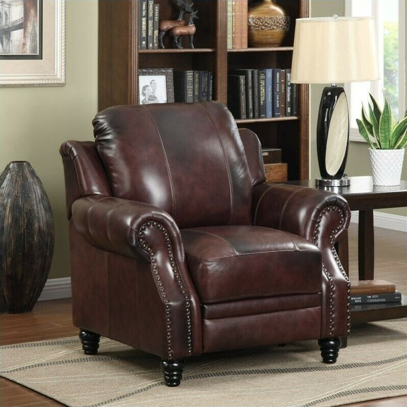 Coaster Princeton Leather Recliner In Brown Ebay