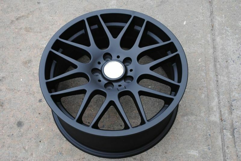 "Bmw M2 Accessories >> 18"" MATTE BLACK M3 CSL STYLE STAGGERED WHEELS RIMS FITS ..."