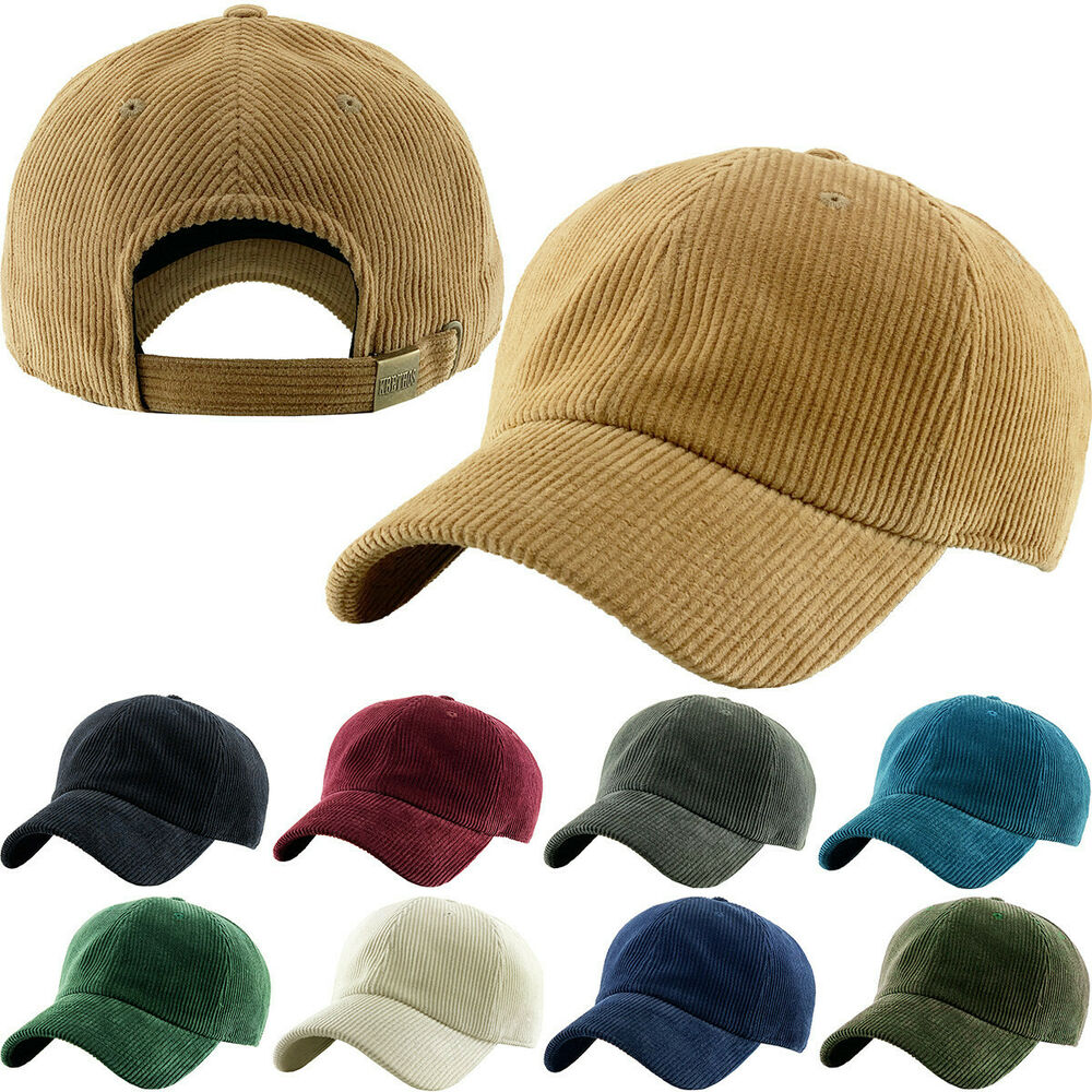 17c9363986f NEWHATTAN 1466 CORDUROY BASEBALL CAP HAT MENS WOMENS 100% COTTON NEW TAGS