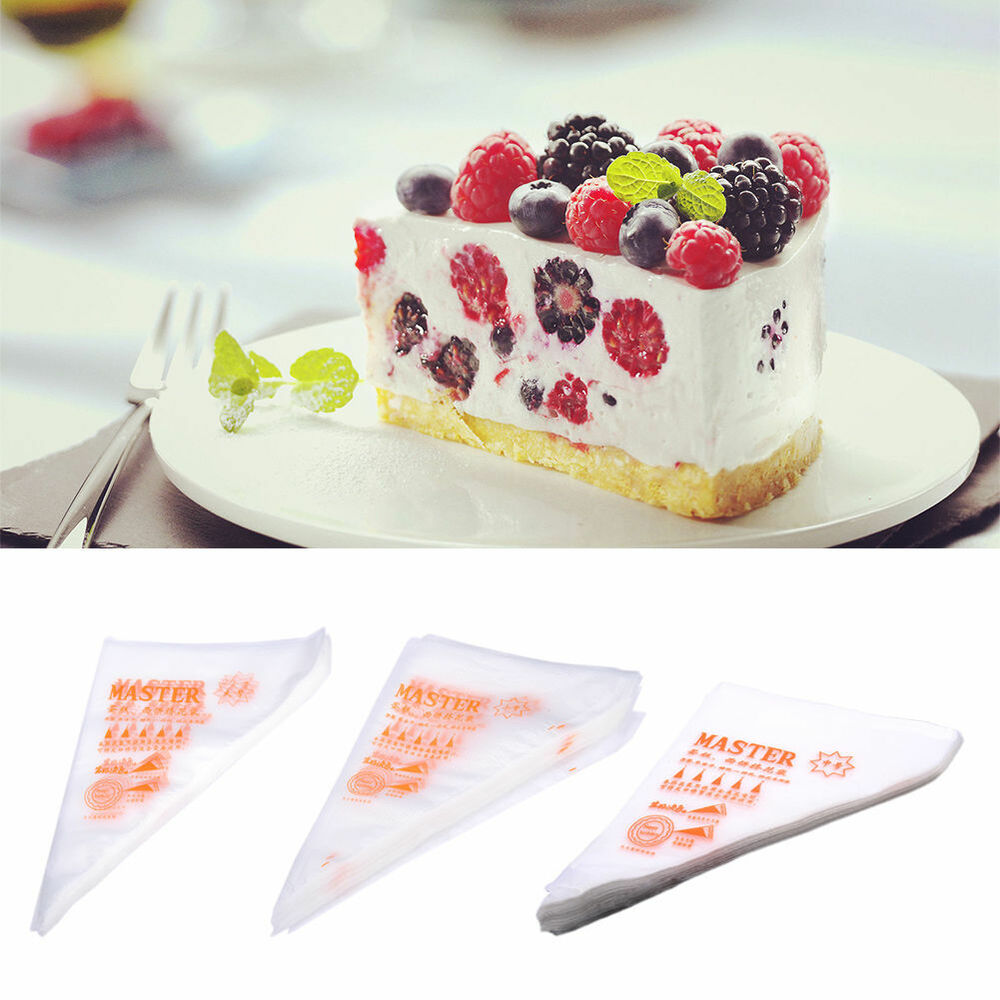 100pcs Fondant Cake Cupcake Icing Piping Decorating Bags ...