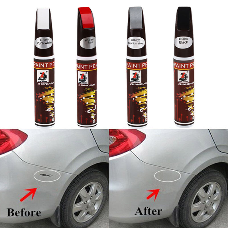 pro black auto car scratch touch up repair paint pen fix scratching remover tool ebay. Black Bedroom Furniture Sets. Home Design Ideas