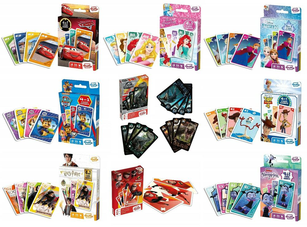 disney 2 in 1 card games  select character children's